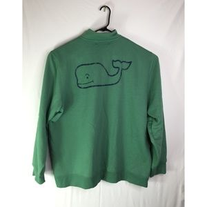 VINEYARD VINES /4 ZIP GREEN WHALE SWEATER SIZE XXl